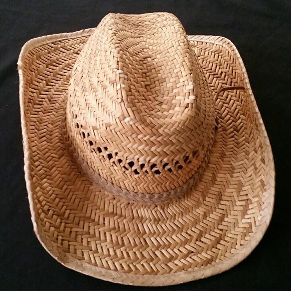 2f70c385bc2ab GoldCoast SunWear Straw Cowboy Hat. M 5b297a2d12cd4aef57a74b1b. Other  Accessories ...